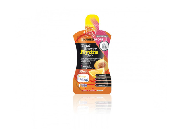 Energetický gél obsahujúci Palatinose, maltodextrín Vitargo®, minerálne soli a vitamín C. TOTAL ENERGY HYDRA GEL - zmes maltodextrínov, Vitarga® a Palatinose, obohatený o minerálne soli; vhodný pre športovcov. Vitamín C znižuje mieru únavy a vyčerpania pri vytrvalostných športoch. Horčík, vápnik a draslík podporujú funkcie svalov.