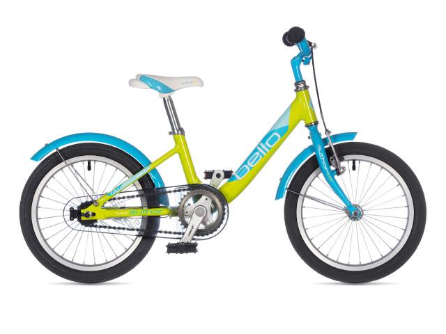 Detský bicykel Author Bello má ľahký duralový rám, geometriu s prehnutou hornou rámovou trubkou, ktorá veľmi uľahčuje ovládateľnosť bicykla pri nasadaní a zosadaní. Nízko položené ťažisko, ergonomické gripy, vzpriamený spôsob jazdy, kryt reťaze, brzdy v zadnom náboji a predná V brzda s páčkou to všetko je sústredené na ľahké objavenie rovnováhy, pohodlia a bezpečia tých najmenších jazdcov. To všetko robí z  tohto bicykla univerzálneho parťáka pre prvé kilometre.